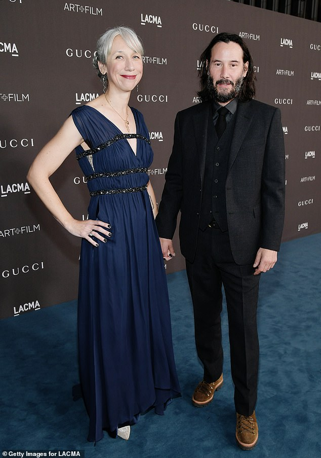 Previous: Alexandra and Keanu have a long history in which they first worked together on an adult picture book, Ode to Happiness, in 2011. Pictured in November 2019
