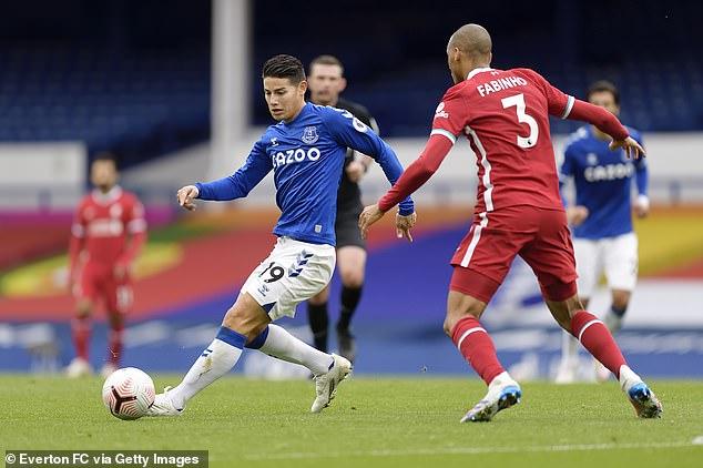 Everton midfielder James Rodriguez has been a major factor behind Everton's fantastic start