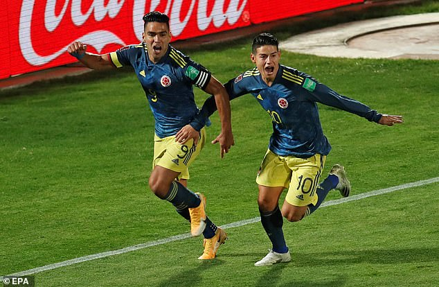 Colombia star Rodriguez (right) became a household name during the 2014 World Cup