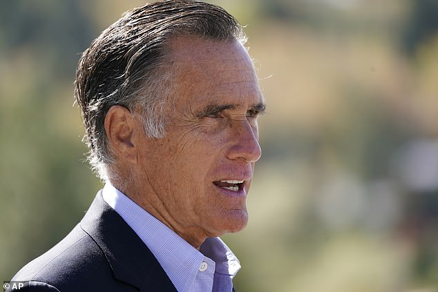 The question came after McDaniel's uncle, Republican Senator Mitt Romney of Utah, said it was 'alarming' that Trump would not condemn the group