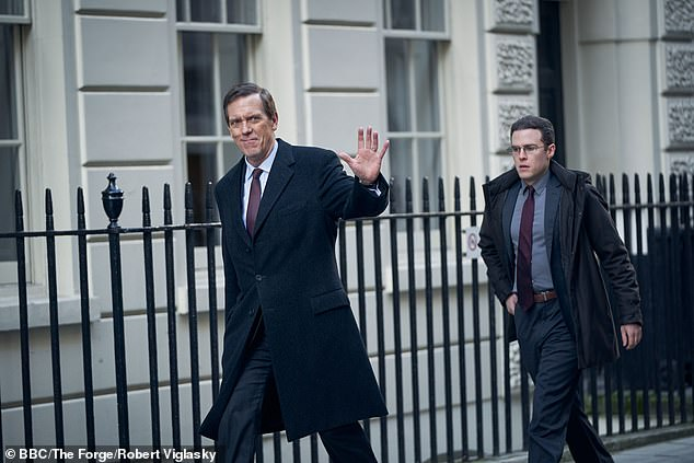 Episode 2 of Roadkill, starring Hugh Laurie (pictured) will air at 9pm next Sunday evening