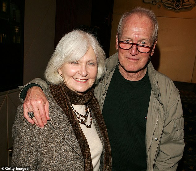 Doesn't Fit: His excitement subsided after seeing some of Newman's films and realizing he wasn't going to be a believable younger version of him; Newman with Joanne Woodward in 2004