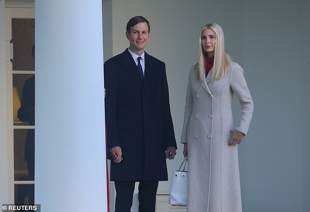 Pictured: White House Senior Advisers Ivanka Trump and Jared Kushner wait to depart for U.S. President Donald Trump's campaign trip to Pennsylvania from the South Lawn at the White House