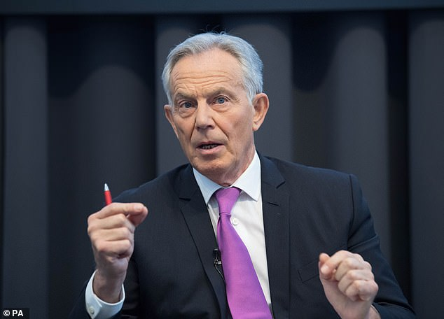 Former Prime Minister Tony Blair spoke to the Health Secretary Matt Hancock prior to his trip to the US last month