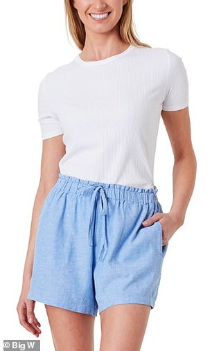 The shorts come in four different colours including cream white, green, blue and black