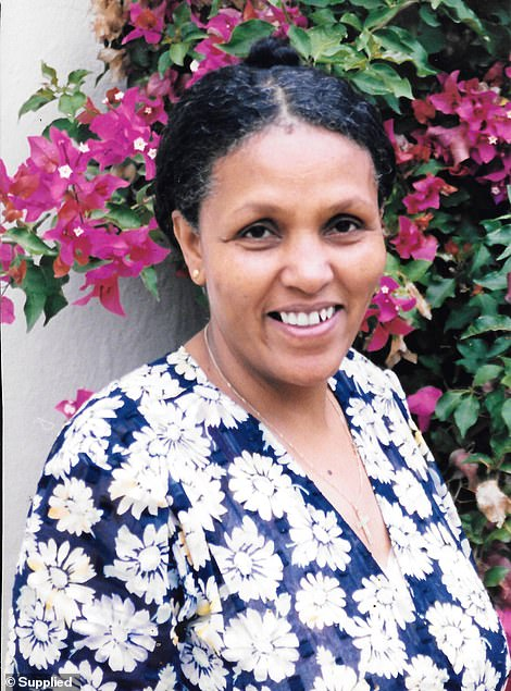 Mamitu (pictured on a visit to Australia with Dr Hamlin) has devoted her life to helping women