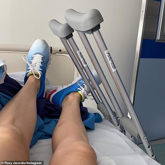 Ouch:After the first episode of the reality show aired, the furious PR maven defended herself in a lengthy Instagram post, revealing she had actually fractured her hip and pelvis just six weeks before filming the physically demanding program