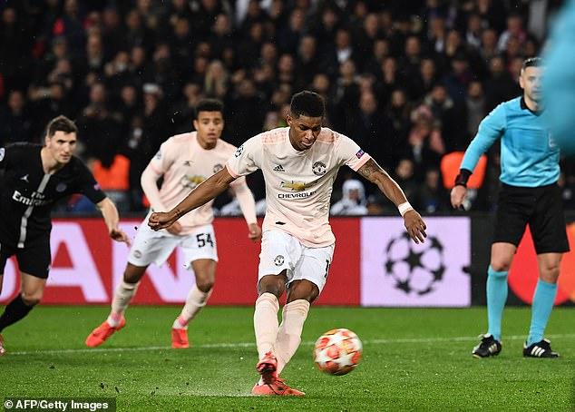 Rashford scored the winning goal in United's last match against Paris Saint-Germain in 2019