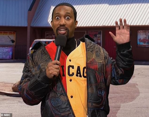 Subtle Jab: They then went through some of the contestants, as she racked her brains to justify sticking with her weapons, including one (played by Chris Redd, who often masquerades as West on the show) that was an anti-masturbation, a tax evasion.  reverend, who seemed to be inspired by designer YEEZY