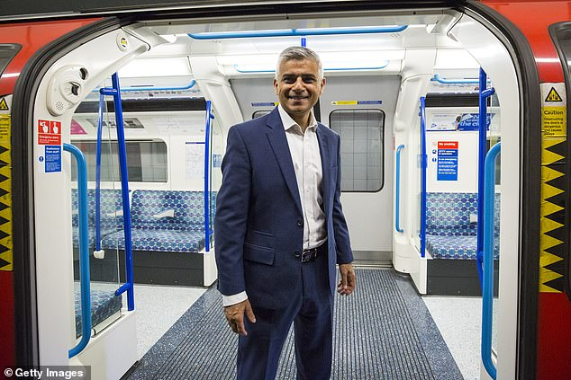 According to the Financial Times, the letter called on Mr Khan to increase the city's housing tax, expand the congestion charge zone and implement higher metro and bus fares (pictured on the hit in 2016)