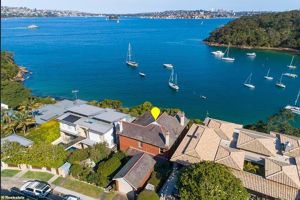 The 105-year-old home (pictured) in Mosman, an affluent suburb in the city's lower North Shore, was snapped up by an unidentified individual on October 8