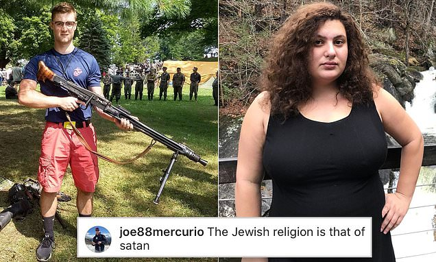 Marine posted neo-Nazi propaganda and told a Jewish journalist her religion was 'that of Satan'