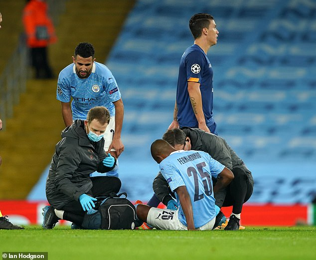 There was bad news for City when Fernandinho went off injured nine minutes after coming on