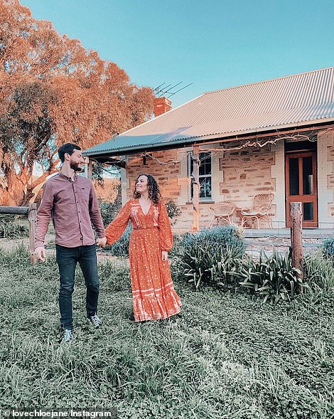 Chloe Grayling, 26, and her tradesman husband Patrick, viewed more than 100 open houses over a three year period before they settled on a Federation-style home with acreage in the Fleurieu Peninsula, South Australia, in June