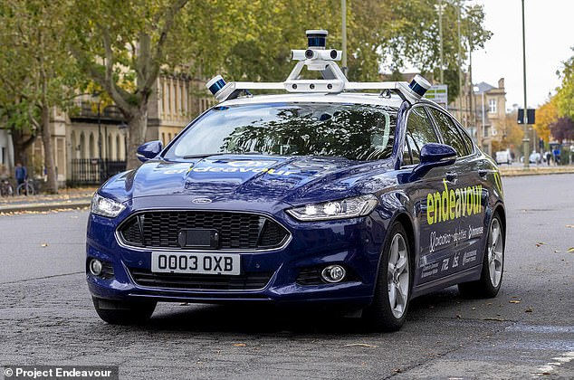 A dozen cameras, three Lidar sensors, two radar sensors are used to put the car at 'level 4 autonomy', meaning it can handle almost all situations itself.
