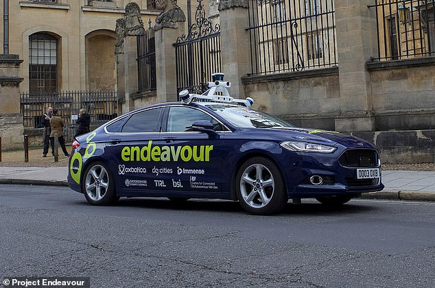 A person needs to be in the driving seat by law, but they won't be touching the steering wheel or pedals, the driverless car will be 'taking them for a ride'