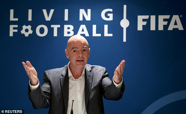 Infantino (above) announced his plans to make football more global in its current structure