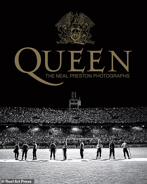 Neal Preston's photo book 'Queen' features 200 photos from his 10-year-long experience travelling with the band. The book will be released on October 29, in collaboration with Queen. Preston says the cover photo (above) is Brian May's favorite. It was taken on their 1981 South American tour and is a photograph of Argentine soldiers lined up on the soccer stadium