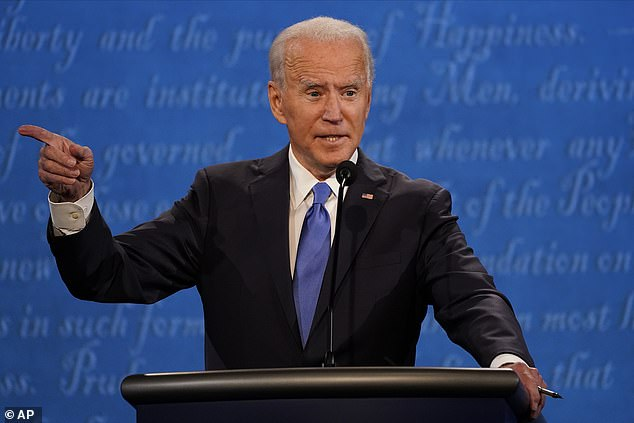 Democratic nominee Joe Biden was the first candidate to interrupt his rival during the debate in Nashville, Tennessee Thursday night – more than a half-an-hour into the final face-off before the election