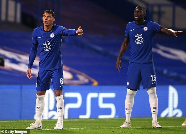 Thiago Silva (left) and Kurt Zouma appear to be Frank Lampard's first choice centre backs