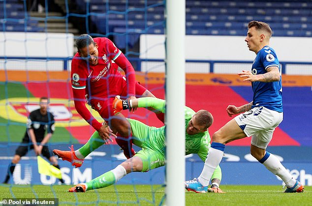 Van Dijk suffered cruciate ligament injury last weekend after a horror challenge from Pickford