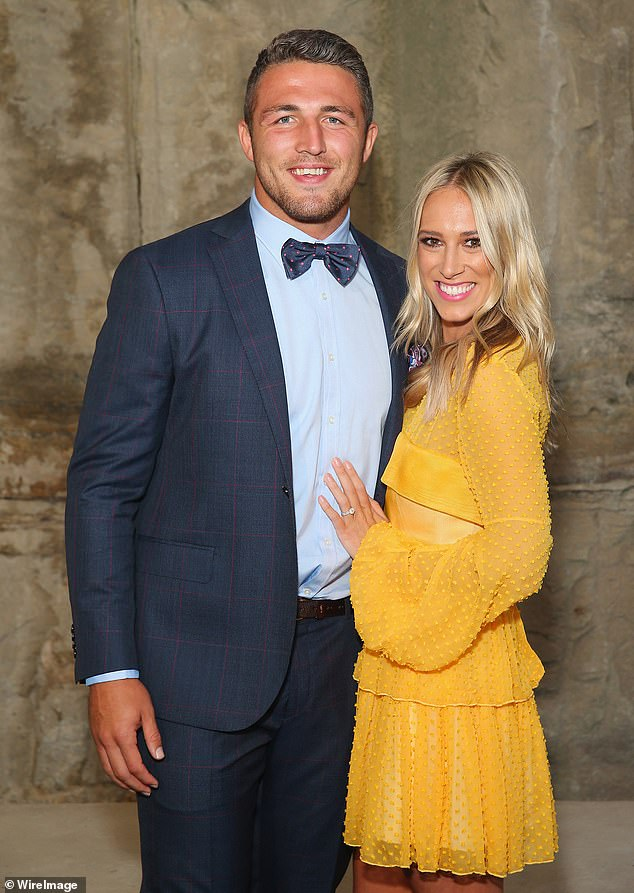 Allegations: On October 2, Sam was officially resigned from his coaching role with the South Sydney Rabbitohs after allegations about his marriage and wild lifestyle were published in The Australian. Sam and Phoebe are pictured in February 2016