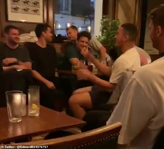 Rugby Onslaught received a video of several high profile members of the team drinking together in a pub