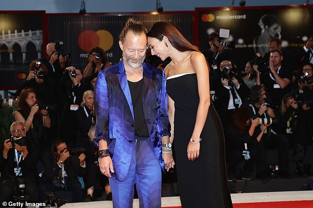 Husband and Wife: The couple were first married in 2017, and Dajana will appear in Thom's short film ANIMA (pictured at the 75th Venice Film Festival) in 2019.