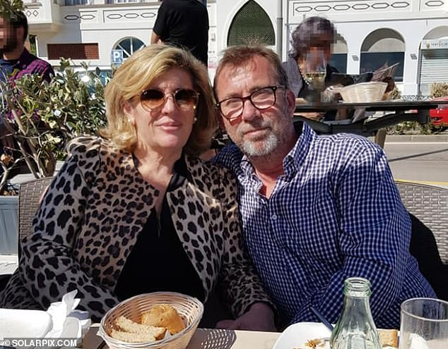 Elton with his 58-year-old Spanish wife Gloria