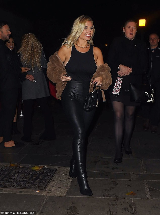 Busy schedule: Billie enjoyed her evening after being busy training for Dancing On Ice