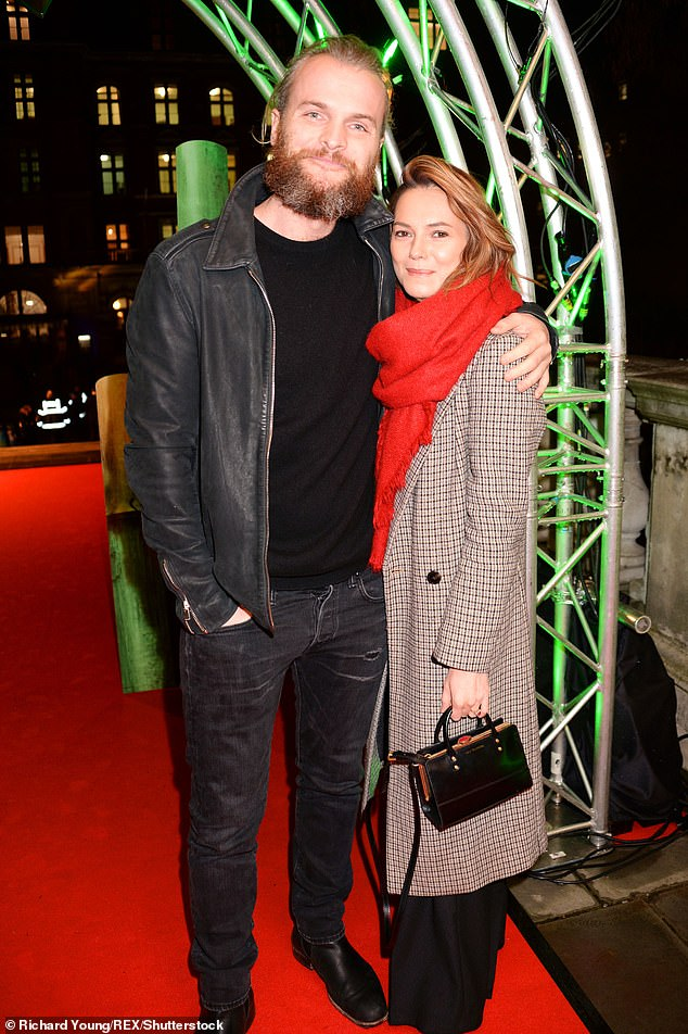 Happy news:The actress confirmed she is six months pregnant with another boy, almost two years after welcoming son Frey with fiancéMarius Jensen (Pictured: January 2019)