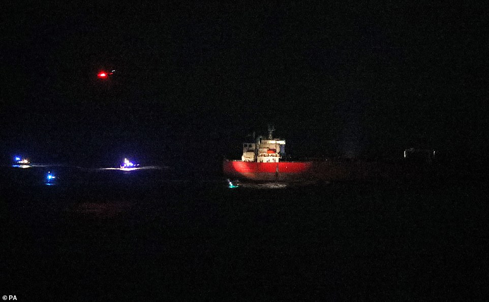 Seven suspects have been detained aboard an oil tanker off the Isle of Wight following reports that say 'Nigerian stowaways' aboard the vessel were violent towards the crew, reports say