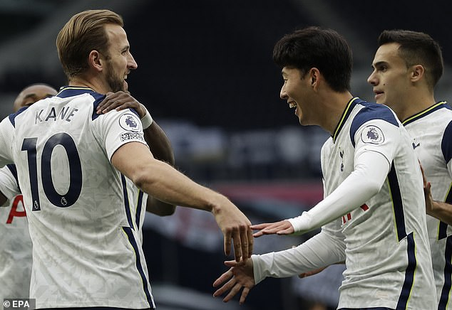 While his current club, Tottenham, have scored 31 goals in the first 10 games of the season