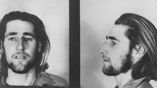 In 1973 Allan Baker and Kevin Crump (pictured) raped and murdered 35-year-old mother Virginia Morse in Queensland after kidnapping her from north western NSW and shooting dead farm labourer Ian Lamb. Both men were sentenced to life and are still in jail