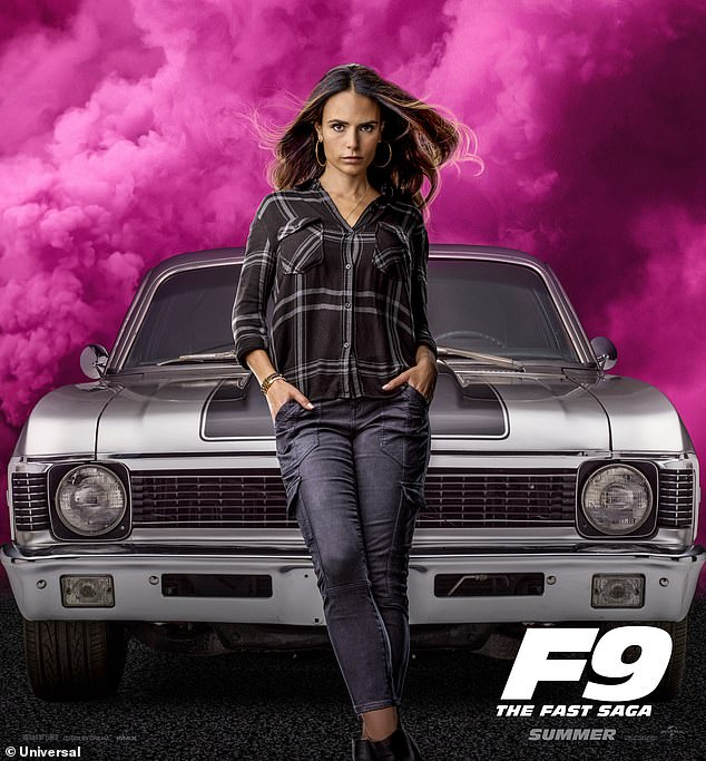 Famous role: Brewster returns as Mia in F9, the latest installment in the Fast And Furious franchise that will be released on June 25 after being pushed back due the pandemic