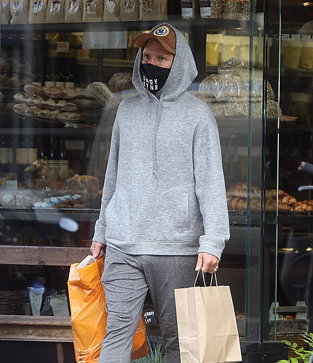 The next morning: Jamie went out in a sweat on Sunday morning to pick up supplies, after his Strictly Come Dancing debut