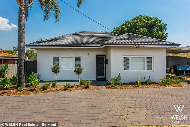 For sale!  Richie listed his Perth property on the market for $ 369,000 on Friday