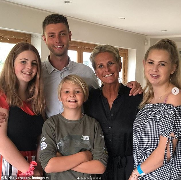 Fears: Ulrika didn't specify what was wrong with her daughter, in September, she admitted Bo was 'terrified' before Britain went into lockdown and was taking risks by going to university'