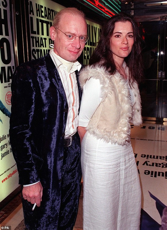 Husband died: Her first husband, journalist John Diamond (left), was diagnosed with throat cancer in 1997 and died in March 2001 (pictured in 2000)