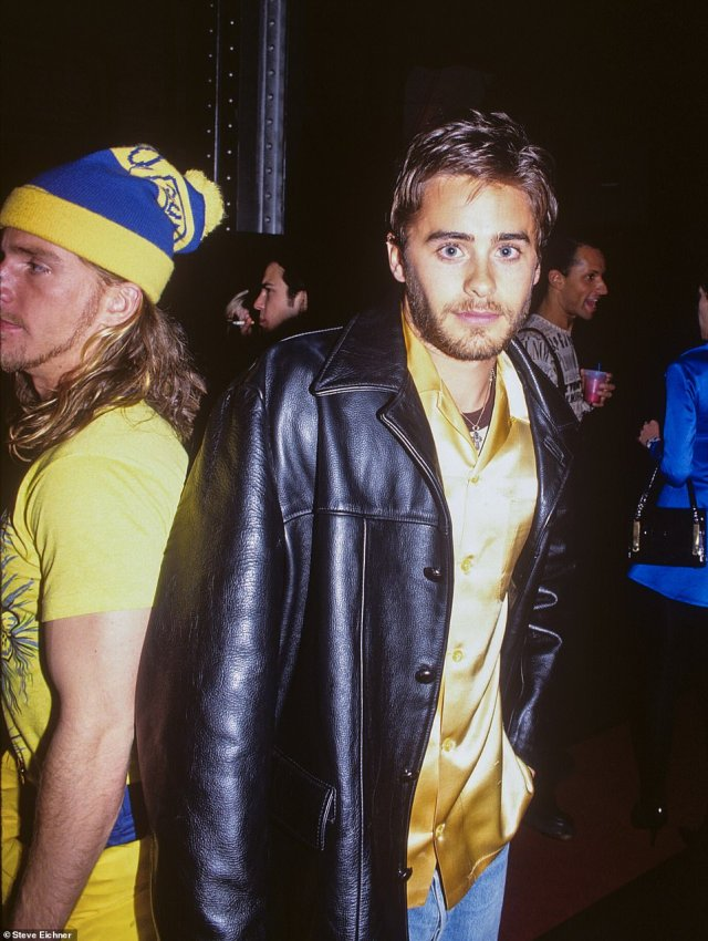Young Leto: Jared Leto was a fixture on the 1990s New York club scene. He's pictured at the Tunnel in 1995. 'I always remember him as a nice quiet guy that dressed really cool and had stunning good looks. In 1995 when this photo was taken he already had fame playing the role of Jordan Catalano on the television series My So called Life,' the photographer recalls