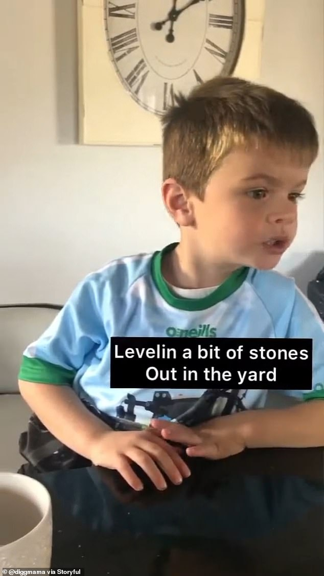 One hectic day, he hoped to line up the stones in the yard before cutting his grandfather's alley