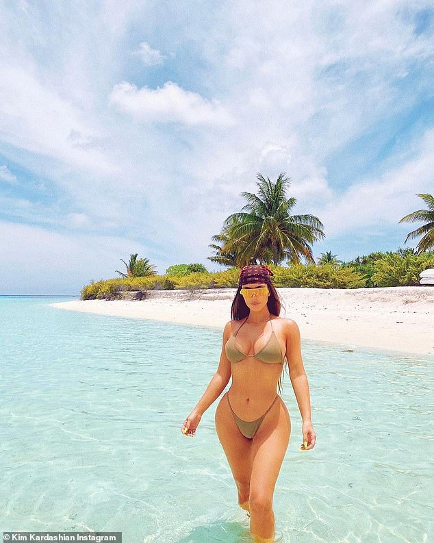 To make a sensation!  Kim showed off her beautiful surroundings on Instagram