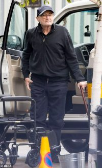 PICTURE EXCLUSIVE: Frail Phil Collins, 69, is helped into a wheelchair