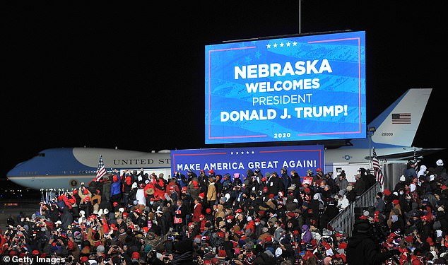 An estimated crowd of 21,000 attended the rally at Eppley Airfield, braving freezing cold temperatures. At least seven people who succumbed to 21F degree wind chill were transported to the hospital and 30 others, including several elderly rally goers, were treated on site after the rally
