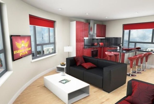 2)A studio flat within this student development in Leeds is on sale for £57,000 to cash buyers only as an investment opportunity. It was first put on the market on December 12, 2013 as a flat within a student unit of four or six bedrooms