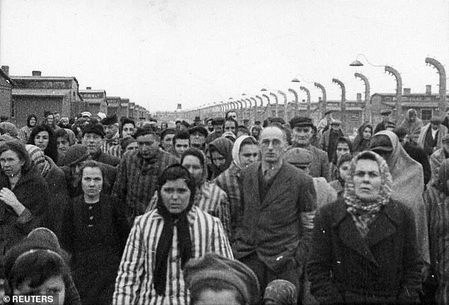 Dorsey said there were no explicit policies outlawing Holocaust denial. File photo shows some of the prisoners who survived the Nazi German extermination camp Auschwitz in Oswiecim, Poland. About 7,000 prisoners, including more than 600 under the age of 18, were still alive when the camp was liberated