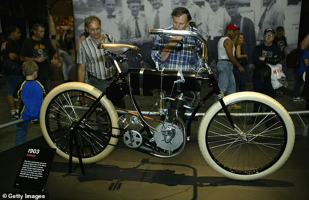 Harley Davidson's first motorcycle, the Serial Number One. The vintage machine is the inspiration for the company's upcoming line of e-bikes