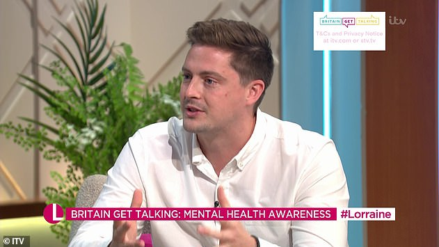 Important: He was speaking as part of ITV's mental wellness campaign and fundraiser, Britain Get Talking, ahead of World Mental Health Day