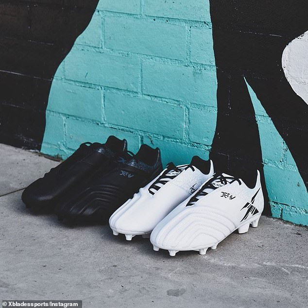 Practical: the former Australian soccer player has been appointed product development director and developed the latest shoe lines