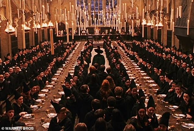 The Great Hall in the Harry Potter films